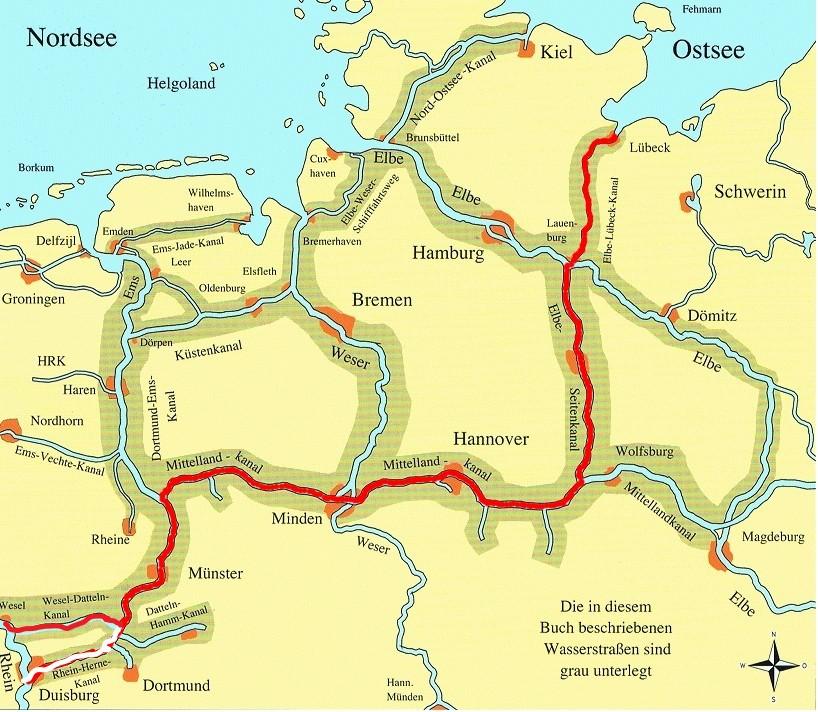 Tyske kanaler m. rute ny